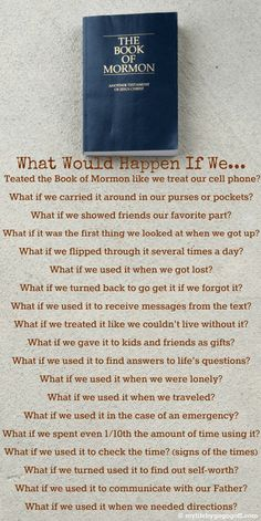 What a great reminder of what is truly important. #lds #sundayschool #comefollowme