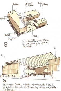 Sketches for the Edificio MOP Rancagua in Rancagua, Chile by Iglesis Prat Arquitectos & Tau 3 Arquitectos