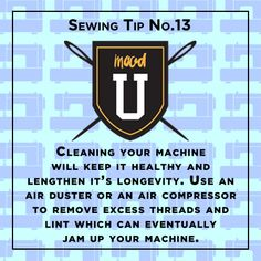 #MoodFabrics #SewingTip things to remember when taking care of your sewing machine #MoodLovesU