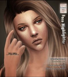 Tifa Sims: Face highlighter • Sims 4 Downloads