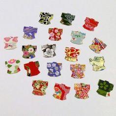 Autocollants en papier japonais kimono