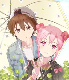Guilty Crown Inori And Shu Aot Anime, Anime Chibi, Kawaii Anime, Manga Anime, Anime Art, Anime Love Couple, Cute Anime Couples, Anime Girlfriend, Guilty Crown Wallpapers