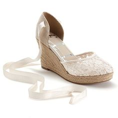 Lace Wedges, Shoes Heels Wedges, Wedge Shoes, Wedge Sandals, Wedding Wedges, Wedge Wedding Shoes, Bridal Wedges, Comfy Wedding Shoes, Bride Shoes