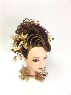 Pin by 遠藤繁樹 on ヘアスタイル in 2018 Creative Hairstyles, Diy Hairstyles, Wedding Hairstyles, Long Hair Designs, High Fashion Hair, Competition Hair, Hair Arrange, Editorial Hair, Fantasy Hair