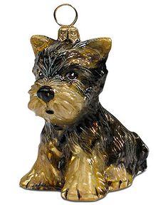 £37 Joy to the World Pet Ornament, Yorkshire Terrier Puppy - All Christmas Ornaments - Holiday Lane - Macy's