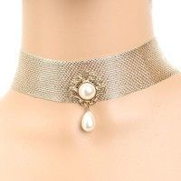 Style : Fashion Color : Gold Gender : Women Girl Item Type :Necklace Metals Type :Alloy,Pearl Shape\