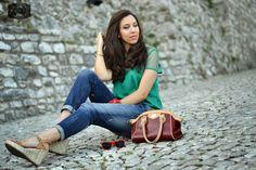 L'eccellenza del made in Italy racchiusa nella borsa Demetra di @orobiancoweb || Made in Italy excellence hold in Demetra Orobianco bag.   #madeinitaly #spazioaiblogger #redbag #orobianco