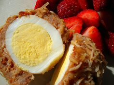 Coconut scotch eggs