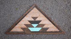Reclaimed Wood Triangle Mosaic  Free Shipping by KarmaDeefa