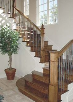 Stair design ideas in pictures.  See great staircase ideas for your next staircase project.: Stair Design Ideas:  Straight Stairs, Landing