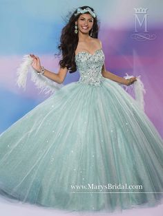 It also comes in white. Quinceanera - Beloving - Style: 4650 by Mary's Bridal Gowns