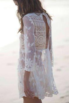 White dress for summer