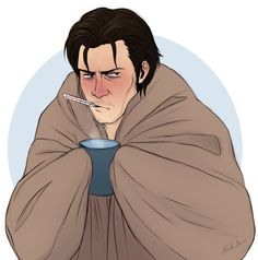 Aw poor Sebastian is sick