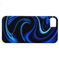 Abstract Blue Peacock iPhone 5 Case