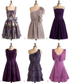 I like the variety of dresses with the same color tone.