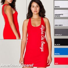 Alpha Chi Omega Racerback Tank Dress $26.95 #Greek #Sorority #Clothing #AChiO #AlphaChiOmega