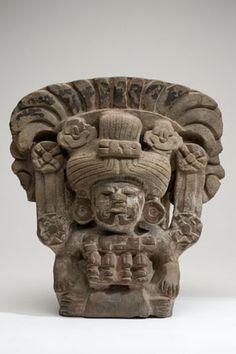 Museo de Historia Mexicana   Cultura zapoteca.Urna en arcilla,400-800 DC