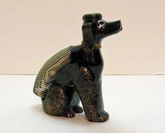 Vintage Poodle Dog Letter Holder/Pen/Candle Holder 1950s