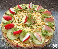Salattorte, ein schmackhaftes Rezept aus der Kategorie Party. Bewertungen: 184. Durchschnitt: Ø 4,4.