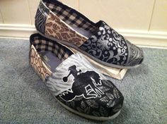 Cowgirl Chic Toms Shoes by HeartNSoleDesigns on Etsy, $120.00