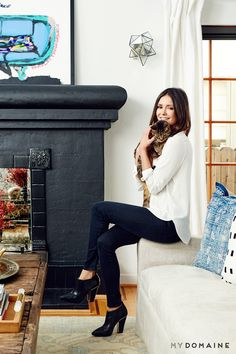 Home+Tour:+Nina+Dobrev's+Bright,+California-Cool+Bungalow+via+@MyDomaine