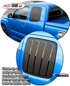 Simulated Window Louver Decal Kit 1 for Toyota Tacoma 2011 Toyota Tacoma, Car Stickers, Car Decals, Tacoma Access Cab, Window Graphics, Exterior Trim, Rear Window, Kit