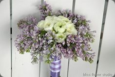Purple & White- ranunculus & lilac