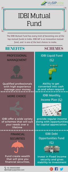 Invest in #idbi #mutual #fund and grow your money to achieve your financial goals. Get more information about idbi #mf #schemes at #MySIPOnline  available at #pune #bangalore #mumbai