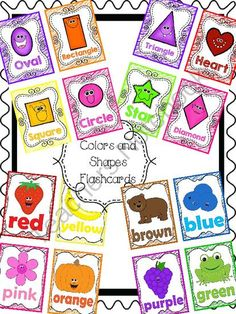 FREE Color and Shape Poems and Flashcards from Teacher Twinkle Toes on TeachersNotebook.com -  (42 pages)  - Super cute color and shape poems!