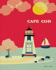Cape Cod scene poster