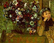 "New artwork for sale! - "" Madame Valpincon With Chrysanthemums  by Edgar Degas "" - http://ift.tt/2oJbI49"