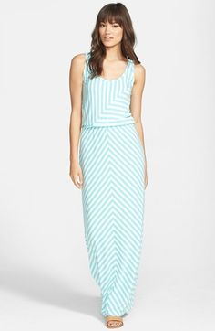 Stem Stripe Maxi Dress