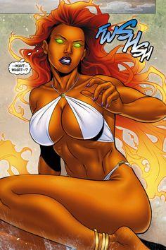 Starfire Comics   Starfire vs Donna troy