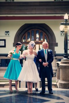 Real weddings: A turquoise and white 50s themed wedding