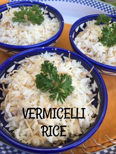 Vermicelli rice is an all around favorite dish throughout  Lebanon and Palestine to Syria and Jordan. Vermicelli  noodles are sauteed in olive oil and butter until they are golden brown, which adds a buttery and nutty flavor to the rice. This versatile rice goes with everything! Rice Recipes, Vegan Recipes, Middle East Food, Vermicelli Noodles, Eastern Cuisine, Lebanese Recipes, My Cookbook, Side Dishes Easy, Savoury Dishes