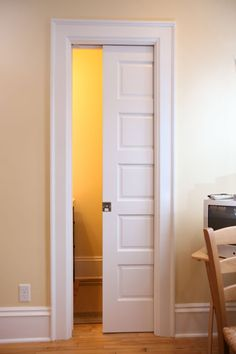 Would like to have pocket doors on our closets.