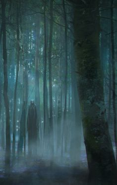 Eerie   Creepy   Surreal   Uncanny   Strange   不気味   Mystérieux   Strano    Alone in the Forest by Viktor Titov