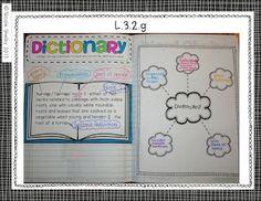 Teaching with Blonde Ambition: Grade Language Interactive Notebook FINISHED! Teacher Librarian, Teacher Tools, Teacher Stuff, 3rd Grade Reading, Third Grade, Dictionary Skills, Reading Notebooks, 2nd Grade Classroom, Classroom Ideas