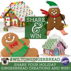 Share photos of your holiday gingerbread creations and win on Instagram. Please check out the rules at http://s.wilton.com/wiltongingerbreadrules Good luck!
