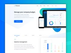 Finance Landing Page by Pawel Kwasnik