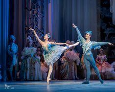 Bluebird Tuukka Piitulainen and Princess Florina Yimeng Sun, costume designer Erika Turunen