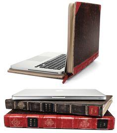 """맥북 프로를 책으로 둔갑시키기, Mac book pro """"BookBook"""" case."""