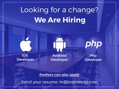 Want to be one of the creative brain behind Brainmobi's success story?  Apply for open positions, mail your resume at: hr@brainmobi.com