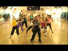 """I have no idea if this is """"traditional"""" Zumba, but this looks so fun. When I lived in Provo and going to college, there was this lady named Lynette at Gold's Gym that would always choreograph moves to fun songs. I LOVED her workouts and I totally miss that class!!!!!"""