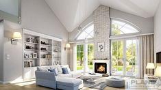 Шале в американському стилі | Plans | Проекти будинків Beautiful House Plans, Dream House Plans, Cottage Plan, Cottage Homes, Minimalist House Design, Minimalist Home, Loft House Design, 30x40 House Plans, Bungalow Style House