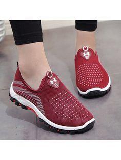 wholesale dealer 6be53 112d0 Color Block Flat Round Toe Casual Sport Sneakers Kadın Giyim, Moda  Ayakkabılar, Clog Ayakkabılar