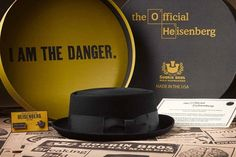 """With the final episodes of Breaking Bad set to arrive next month, the Goorin Bros. hat shop has released an """"official 'Heisenberg' pork pie hat modeled on Breaking Bad, San Diego Comic Con, Pork Pie Hat, Bad Image, Round Hat, Heisenberg, Walter White, Hats For Sale, Hat Shop"""