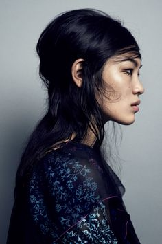 """""""The Face of Asia"""" Chiharu by Marcus Ohlsson for Vogue Japan September 2016."""
