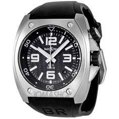Bell and Ross Marine Carbon Fiber Dial Automatic Mens Watch BR0292-ST-CBF