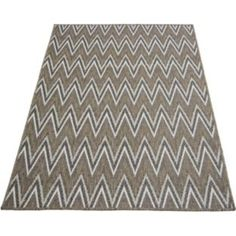 Buy Fairmont Flatwave Zigzag Rug 80x150cm - Chocolate at Argos.co.uk - Your Online Shop for Rugs and mats.